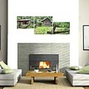 3-panel - Colonial Village Poster