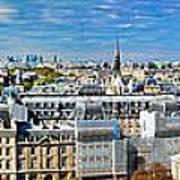 Paris Panorama France Poster
