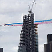 Red Arrows Flypast Over The City Of London Poster