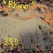 Rhino Poster by Joe Dillon