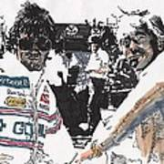 Rick Mears And Roger Penske At Indianapolis Poster
