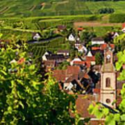 Riquewihr Alsace Poster by Brian Jannsen