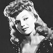 Rita Hayworth, Columbia Portrait, Circa Poster