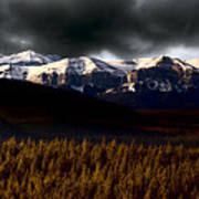 Rocky Mountains In Winter Poster