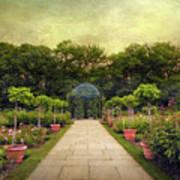 Rose Garden Gazebo Poster
