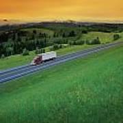 Semi-trailer Truck Poster by Don Hammond