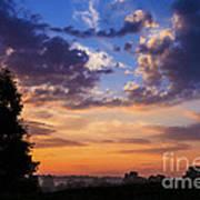 September Mountain Sunrise Poster