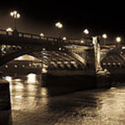 Southwark Bridge London Poster