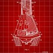 Space Capsule Patent 1959 - Red Poster