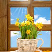 Spring Window Poster by Amanda Elwell