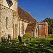 St Marys Church Kintbury Poster