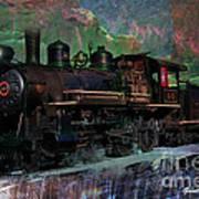 Steam Locomotive Poster by Gunter Nezhoda