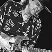 Guitarist Stevie Ray Vaughan Poster