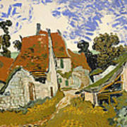 Street In Auvers-sur-oise Poster