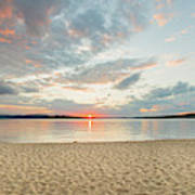 Sunset On South Bay, Lake Superior Poster