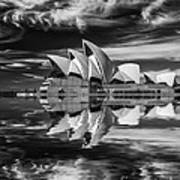 Sydney Opera House abstract Poster