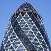 The Gherkin Building In London England Poster