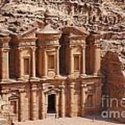 The Monastery At Petra In Jordan Poster