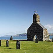 The Ruined Church Of St Brynach At Cwm Yr Eglwys Poster