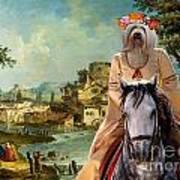 Tibetan Terrier Art Canvas Print Poster