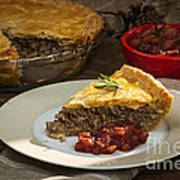 Tourtiere Meat Pie Poster
