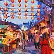 Traditional Shopping Area Poster