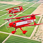 Two Pitts Special S-2a Aerobatic Poster