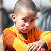 Uighur Child At Kashgar Market Xinjiang China Poster