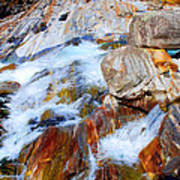 Vibrant Colored Rocks Verzasca Valley Switzerland Poster