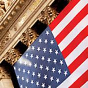 Wall Street Flag Poster by Brian Jannsen