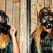 Women With Gasmasks Poster