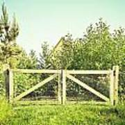 Wooden Gate Poster