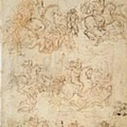 Italy, Veneto, Venice, Accademia Art Poster by Everett
