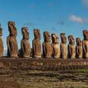 Easter Island Moai Poster