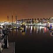 Long Beach Marina- California Poster