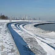 31st Beach Shoreline In Winter Poster