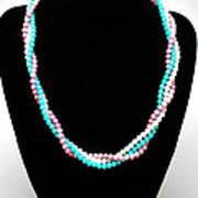 3584 Three Strand Twisted Shell Necklace Poster