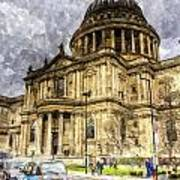 St Paul's Cathedral London Poster