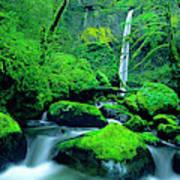 Usa, Oregon, Columbia River Gorge Poster