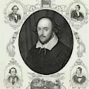 William Shakespeare (1564 - 1616) Poster