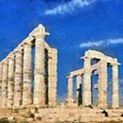 Poseidon Temple Poster