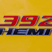 392 Hemi In Yellow Poster