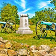 3rd Massachusetts Battery Gettysburg National Military Park Poster