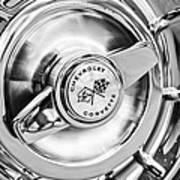 1957 Chevrolet Corvette Wheel Poster