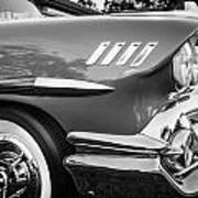 1958 Chevrolet Bel Air Impala Painted Bw  Poster