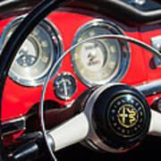 1961 Alfa Romeo Giulietta Spider Steering Wheel Emblem -1239c Poster