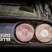 1989 Ferrari 328gtb Taillight Emblem Poster