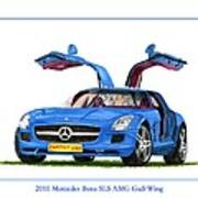 2010 Mercedes Benz S L S Gull-wing Poster