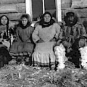 Alaska Eskimo Family Poster