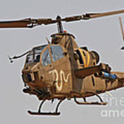 An Ah-1s Tzefa Attack Helicopter Poster